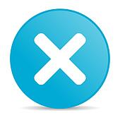 cancel blue circle web glossy icon