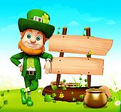 Leprechaun for patrick day
