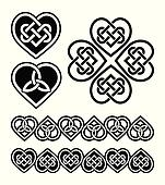 Celtic heart knot - vector symbols