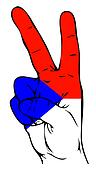 Peace Sign of the Czech flag
