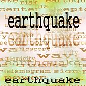 concept earthquake background