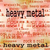 illustration of heavy metal word