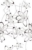 Seamless background, floral design