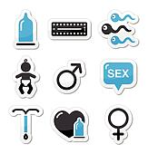 Contraception methods, sex icons
