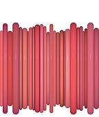 abstract glossy coil backdrop in red pink on white