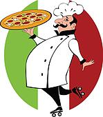 Pizza delivery cook