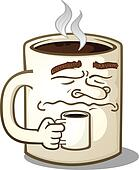 Grumpy Coffee Mug Character