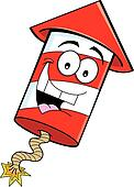 Cartoon firecracker