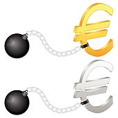 shackles with euro symbol