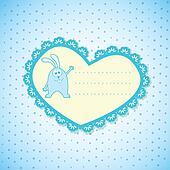 Baby Frame on Blue Background