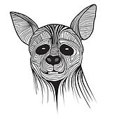 Hyena animal sketch symbol