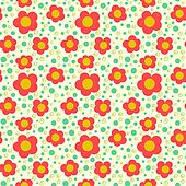 Simple floral pattern with poppies