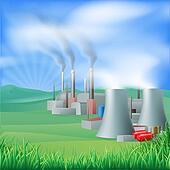 Power plant energy generation illus