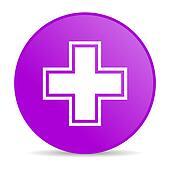 pharmacy violet circle web glossy icon