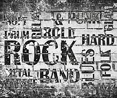Grunge rock music poster