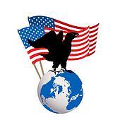 U.S.A. conceptual icon