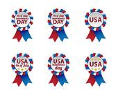 Independence day badges