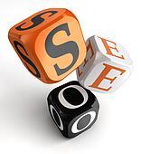 seo orange black dice blocks