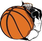 Female Basketball Dunk Design