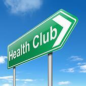 Health club sign.