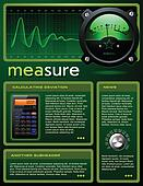 Science theme brochure vector