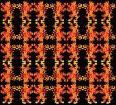 tattoo tribal red lion pattern vector art