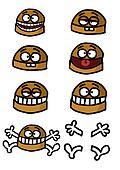 Group of humorous hamburgers
