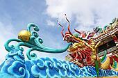 Beautiful dragon with blue sky