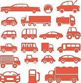 Icon set. Cars
