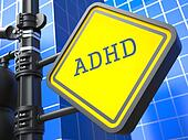 Medical Concept. ADHD Waymark.