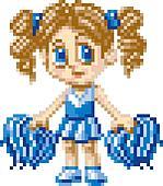 Pixel Art Cheerleader