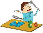 making omelet