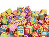 ABC cube pile