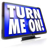 Turn Me On Words TV HDTV Television Watch Program