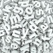 Letter Jumble Background Alphabet Words Spilled Mess