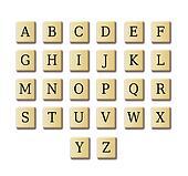 crossword design alphabet