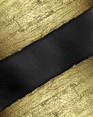 Black background with a gold strip from the tree pattern