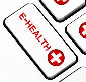 E-health button on keyboard