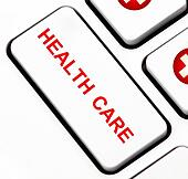 Health care button on keyboard
