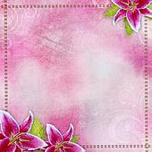 Pink bridal lilies border