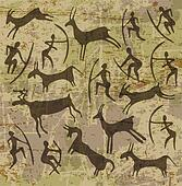 background with petroglyphs