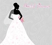 Bridal Shower Invitation Clip Art - Royalty Free - GoGraph