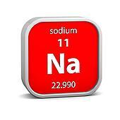 Sodium material sign