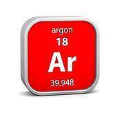 Argon material sign