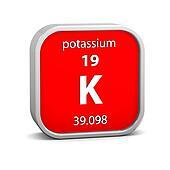 Potassium material sign