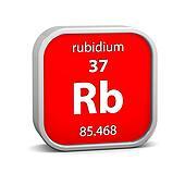 Rubidium material sign
