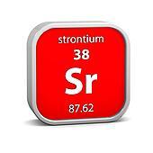 Strontium material sign