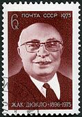 USSR - 1975: shows Jacques Duclos (1896-1975), French labor lead