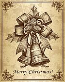 Vintage ?hristmas card with bells