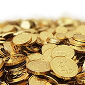 Golden Bitcoin digital currency bac